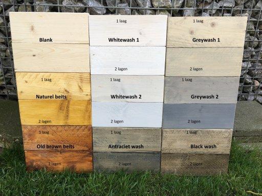 Zeer Rechte bank met plantenbak - Boeren steigerhouten meubelen EM84